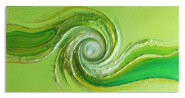 spiralenbild gruen