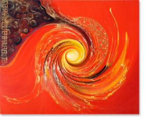 Spiralenbild rot