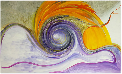 Spiralenbild lila orange