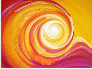 Spiralenbild rosarot